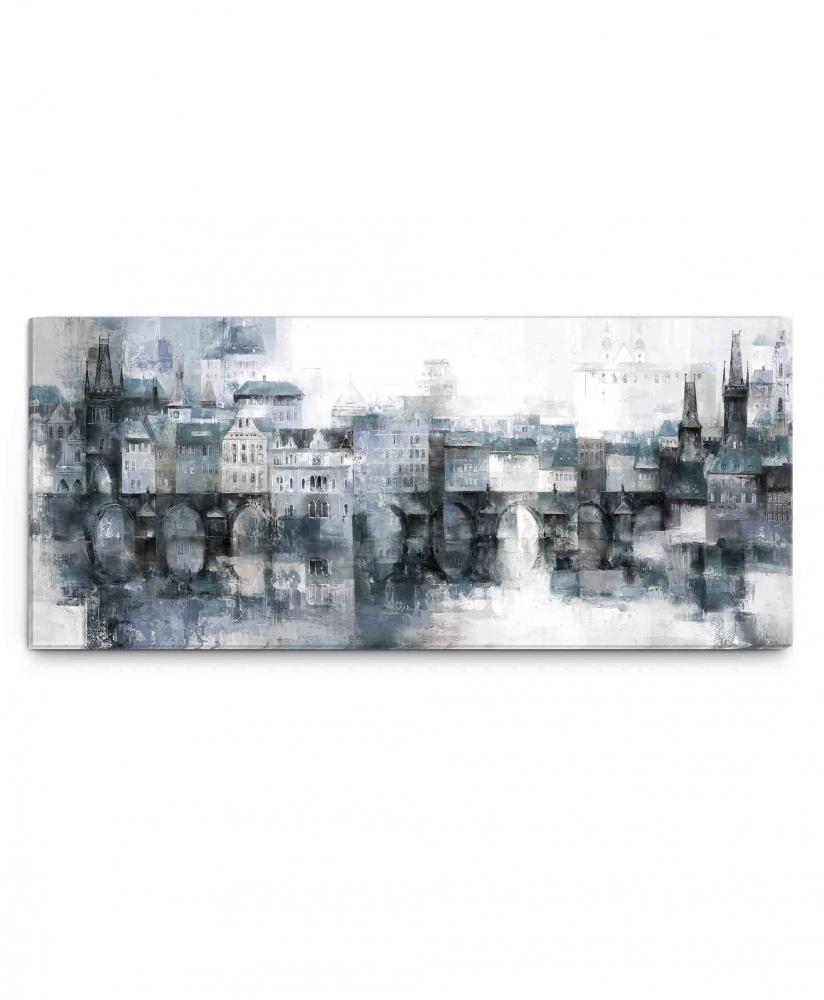 Obraz Snové pražské panoráma, 120x50 cm