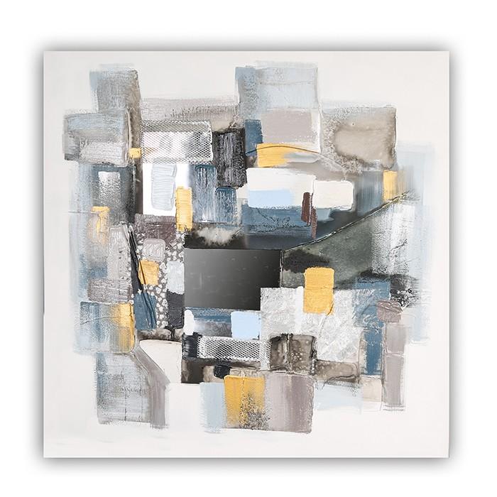Obraz Squares 100 cm, olej na plátně