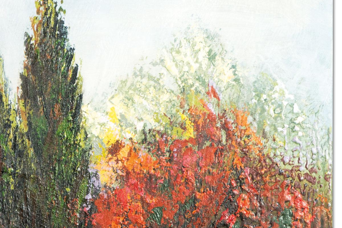 Obraz Summer Garden, 140 cm, olej na plátně