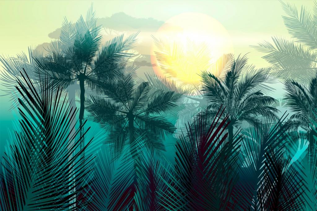 Obraz Tajemná jungle, 150x100 cm