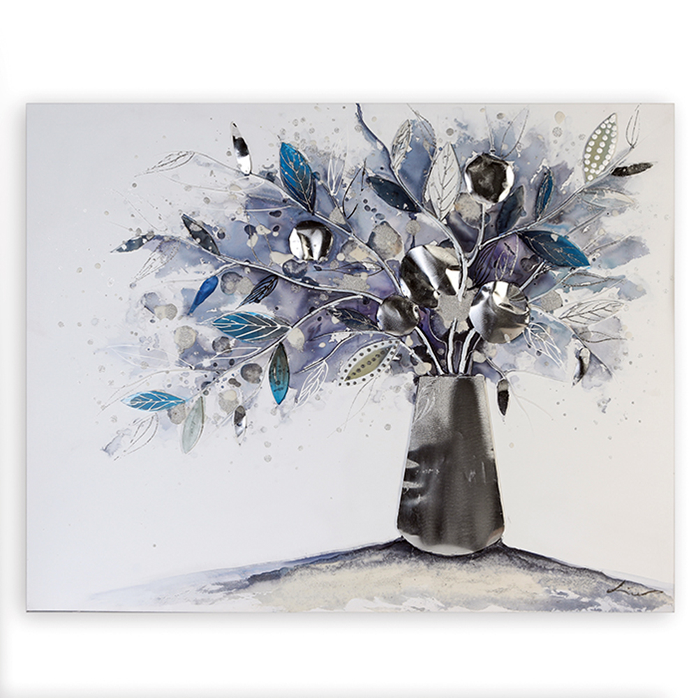 Obraz Vase of Flowers 100 cm, olej na plátně