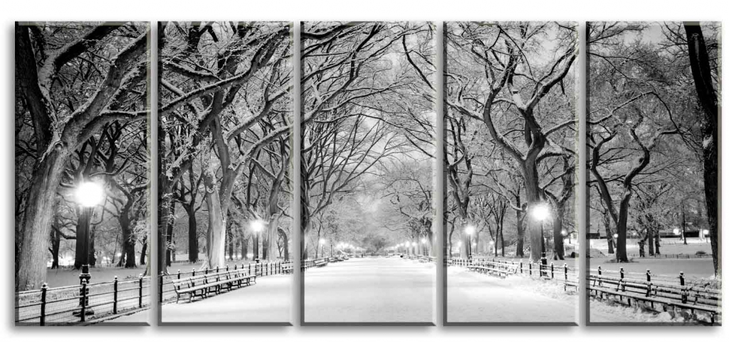 Obraz Večerní procházka parkem, 150x70 cm