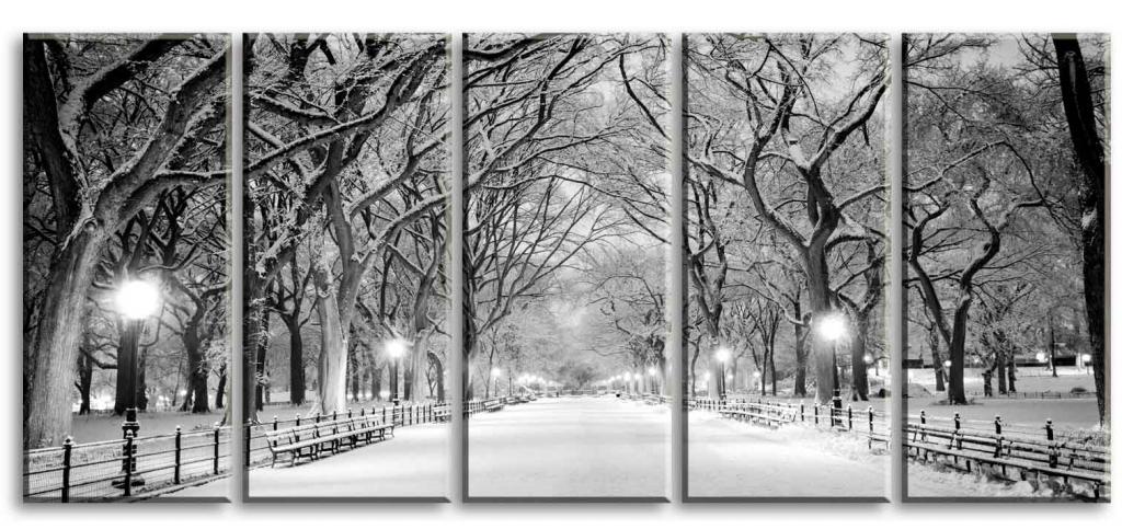 Obraz Večerní procházka parkem, 200x90 cm