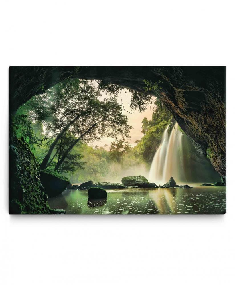 Obraz Vodopád z jeskyně, 90x60 cm