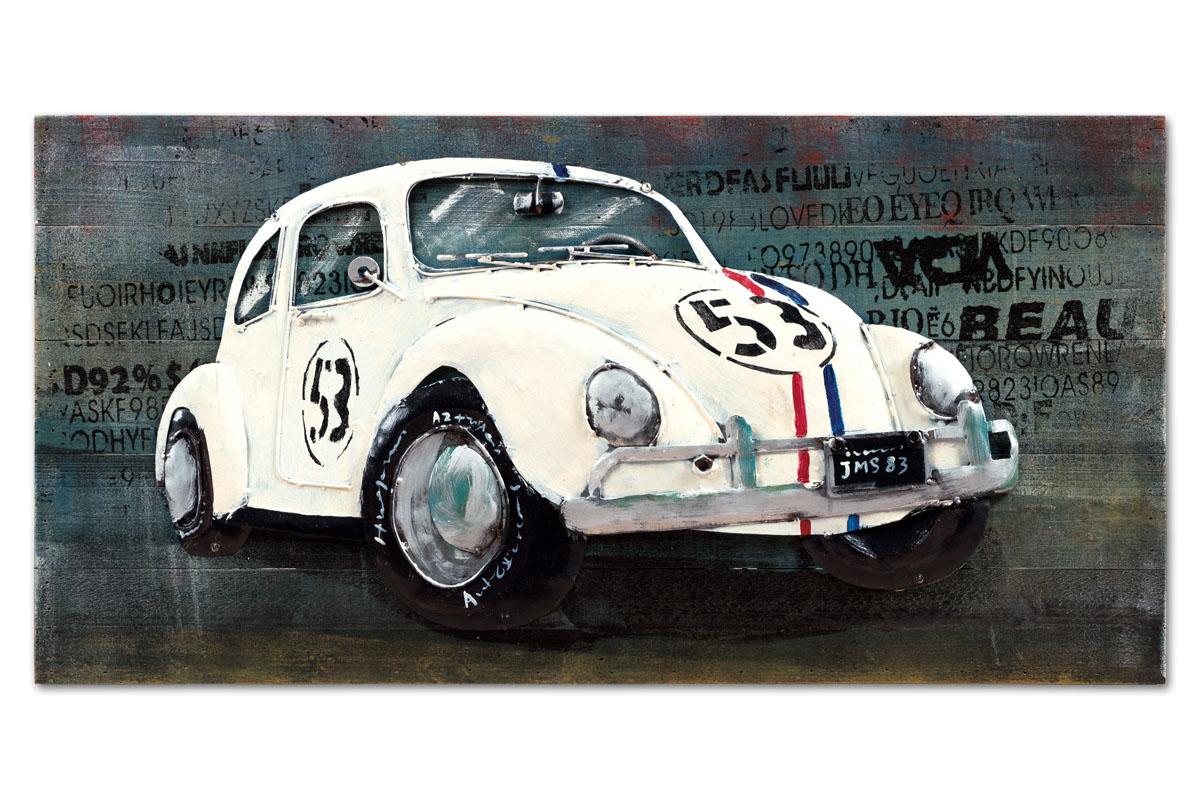 Obraz White Car, 80 cm, olej na plátně