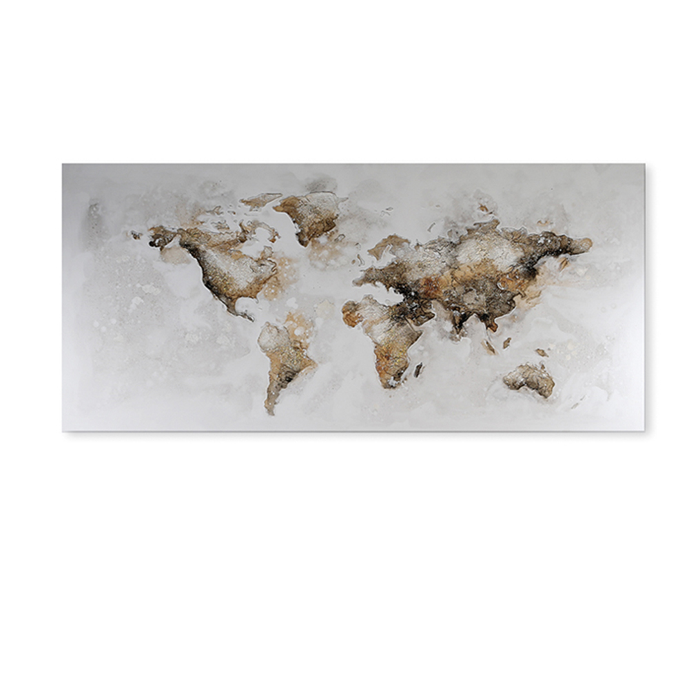 Obraz World map 150 cm, olej na plátně