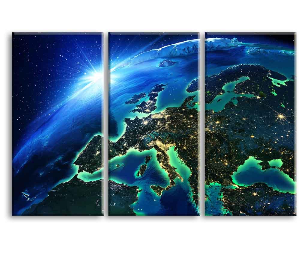 Obraz Země z vesmíru II, 120x80 cm