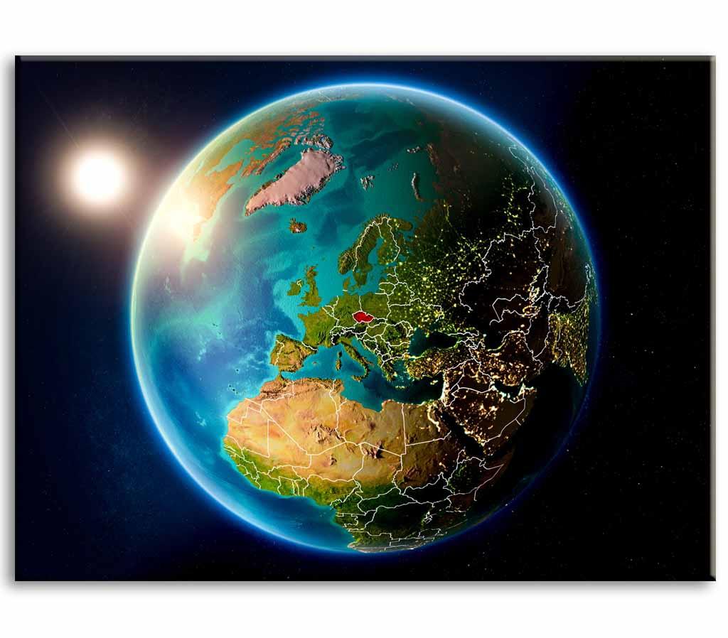 Obraz Zeměkoule, 120x80 cm