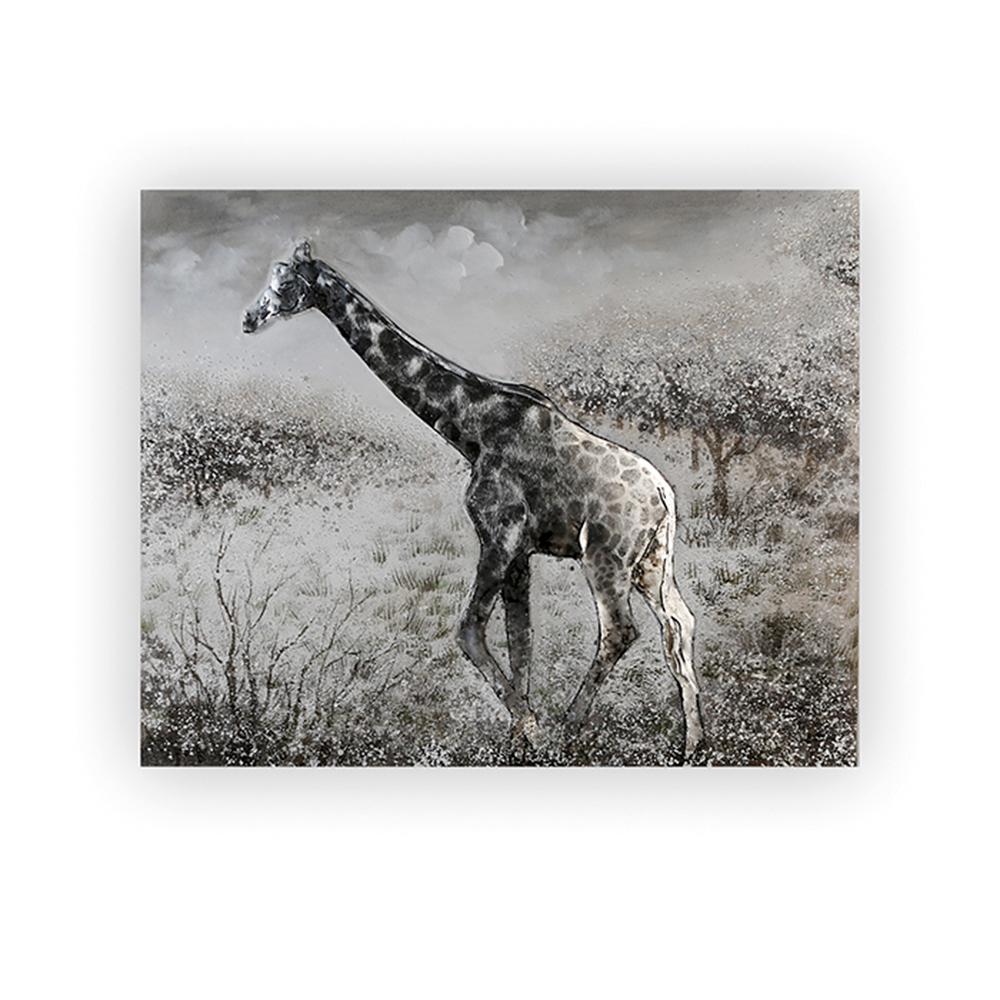 Obraz Žirafa 100 cm, olej na plátně