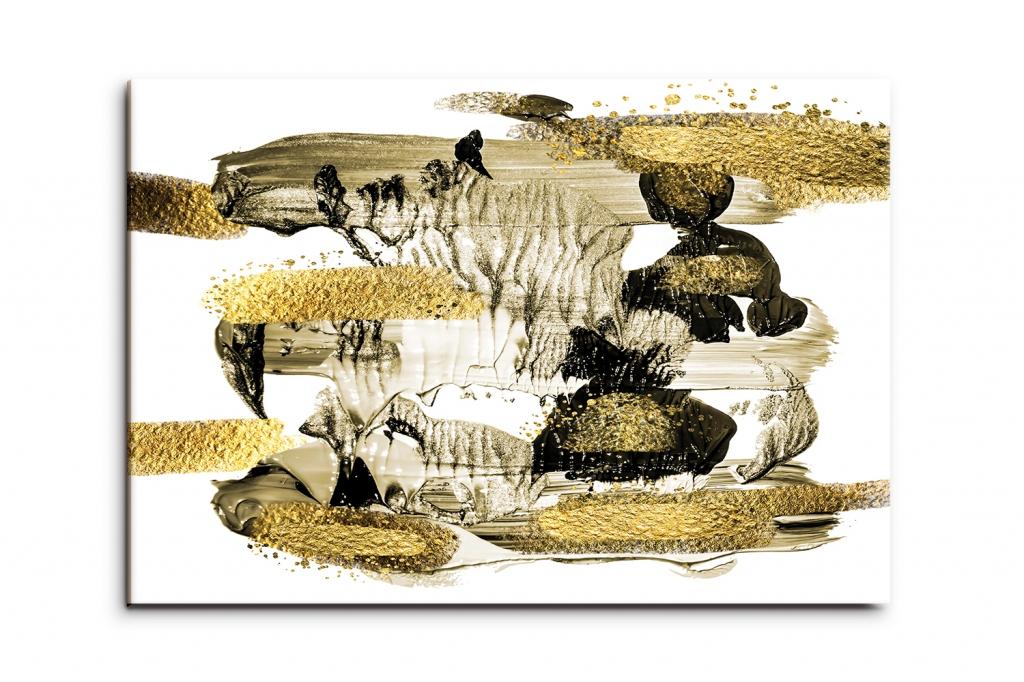 Obraz Zlaté tahy štětcem, 150x100 cm