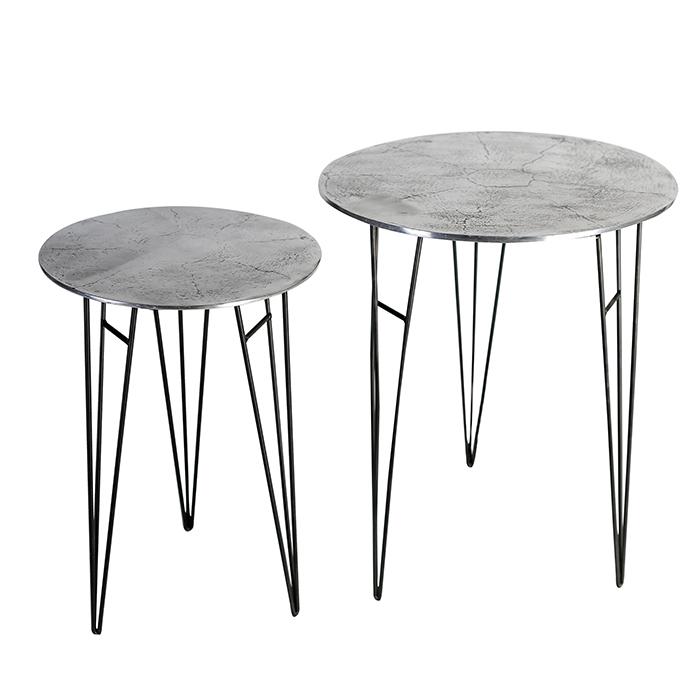 Odkládací hliníkový stolek Perth, 40 cm