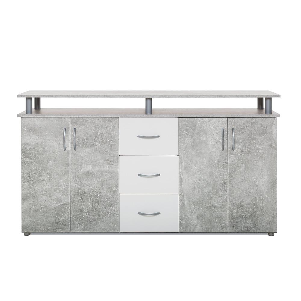 kombinovan sk komoda kansas 155 cm beton b l design outlet. Black Bedroom Furniture Sets. Home Design Ideas