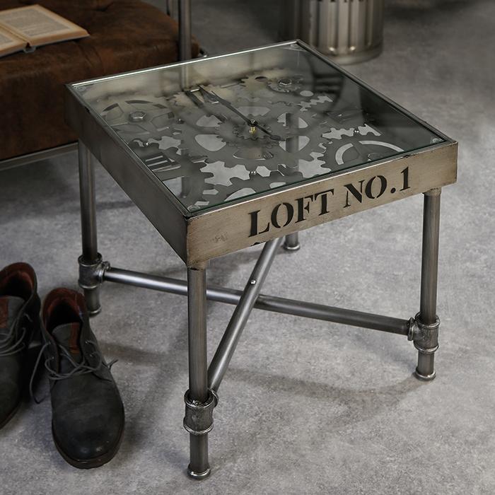 Odkladací / konferenčný stolík Loft No. 1, 45 cm, strieborná