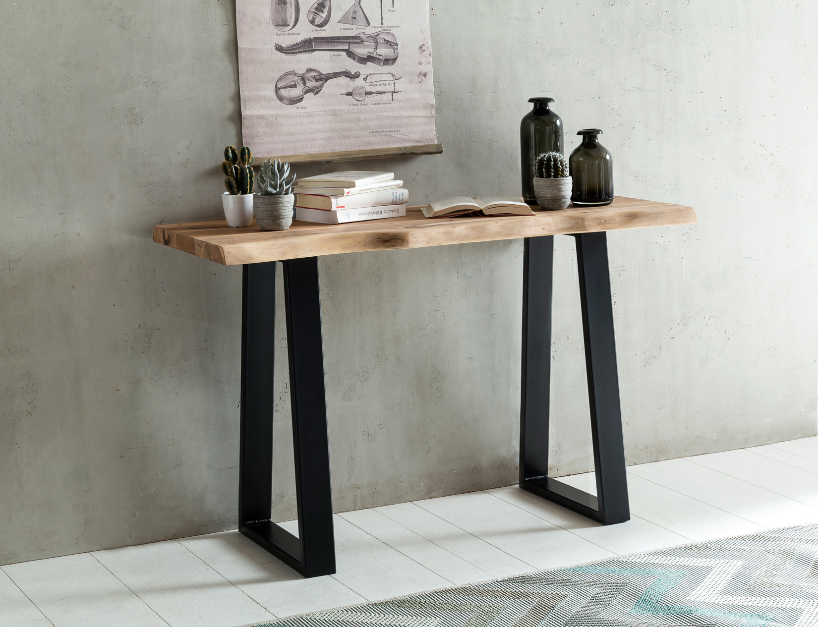 Odkládací / konzolový stůl Gaya, 120 cm, masiv akát