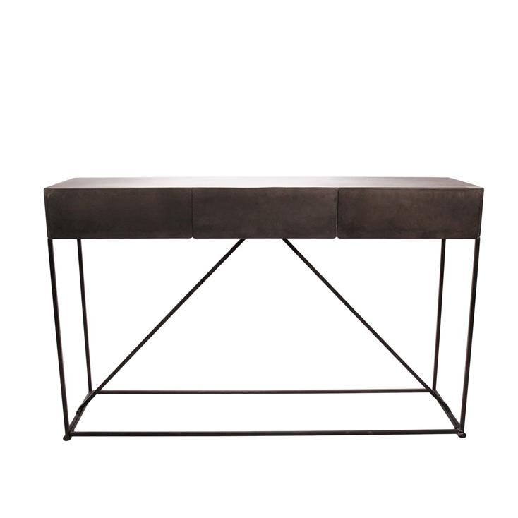 Odkládací kovový stůl s 3 zásuvkami Boxit, 161,5 cm