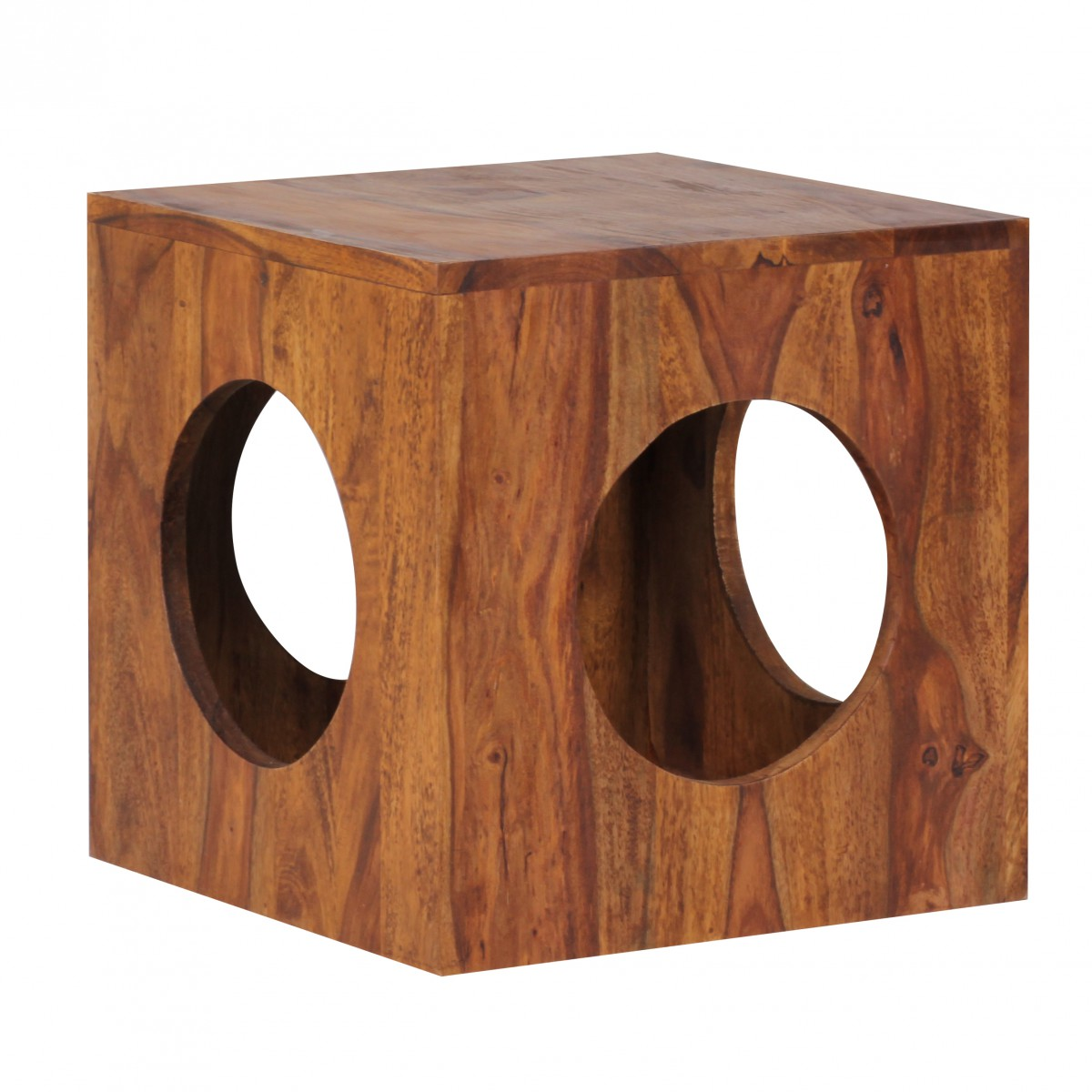 Odkládací / noční stolek Mumbai cube, 35 cm, masiv Sheesham