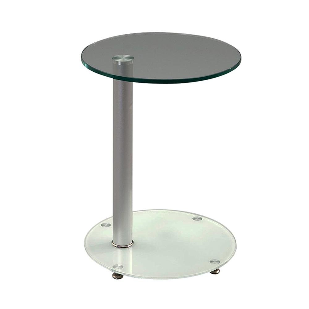 Odkládací / noční stolek Sol, 38 cm, bílá/čirá