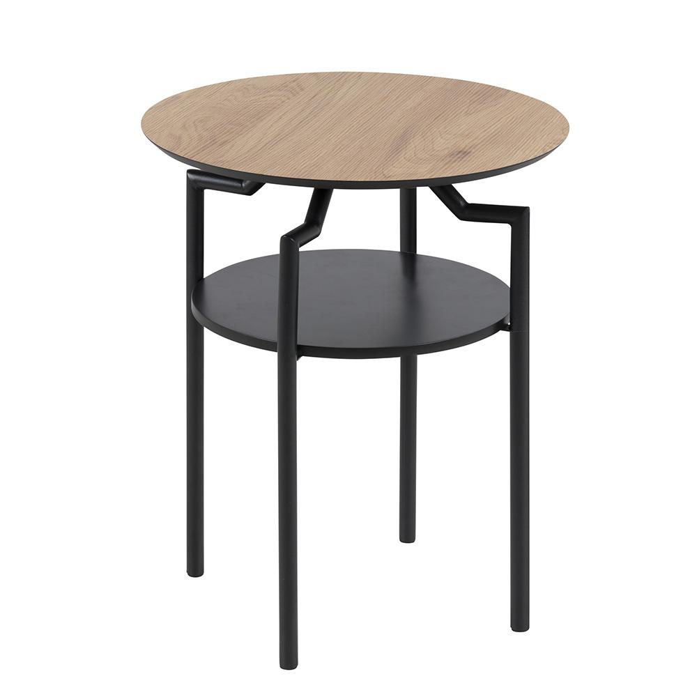 Odkládací / noční stolek Staden, 45 cm, dub/černá