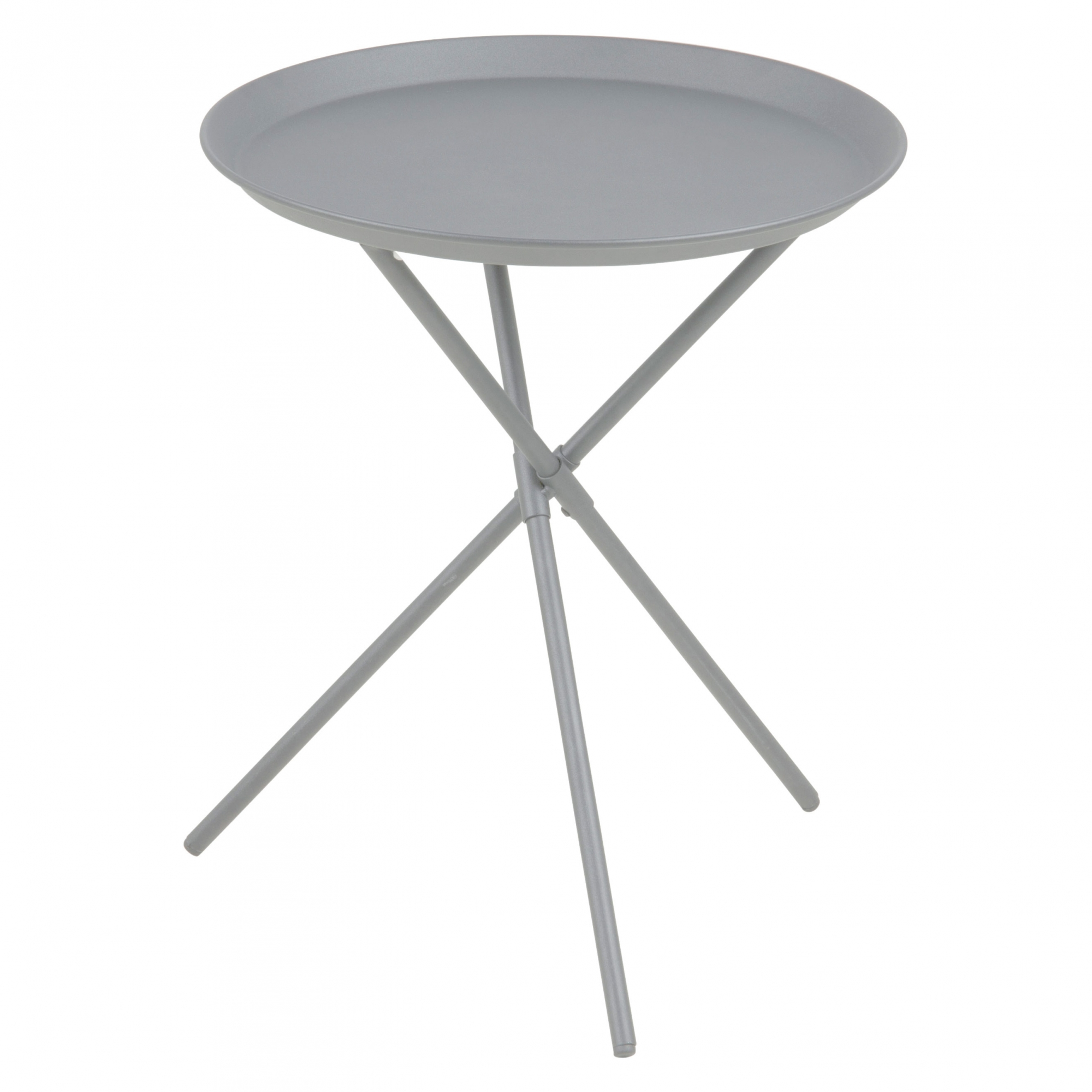 Odkladací / nočný stolík Triple, 39 cm, sivá, šedá