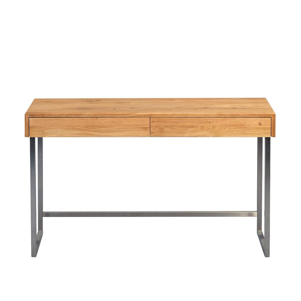 Odkládací / psací stůl Tessa, 120 cm, masiv/nerez