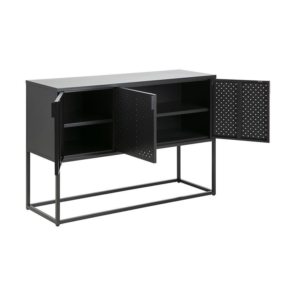 Odkládací skříň Lyfte, 120 cm, černá