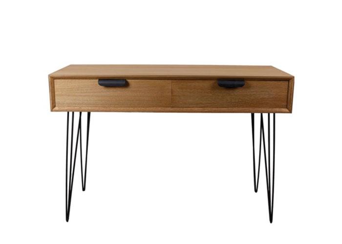 Odkladací stôl so zásuvkami Nord, 110 cm, drevo / čierna