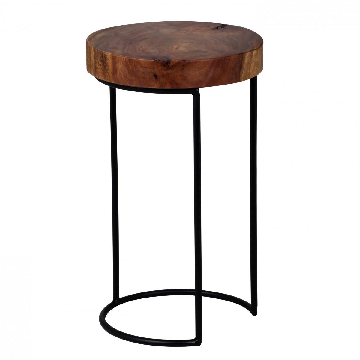Odkládací stolek Akola, 28x45 cm, masiv Sheesham