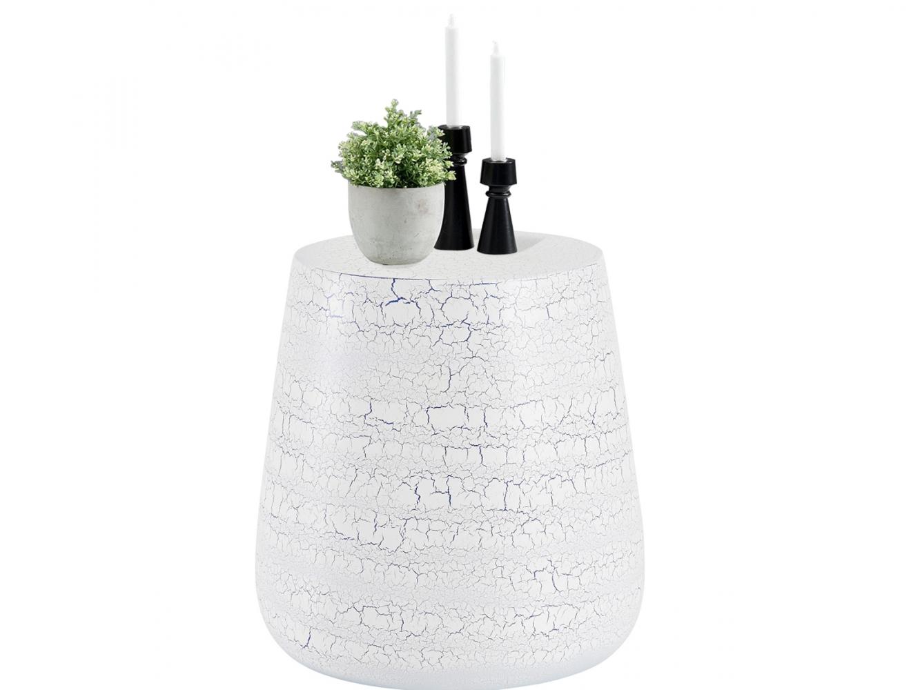 Odkládací stolek Arien, 41 cm, bílá