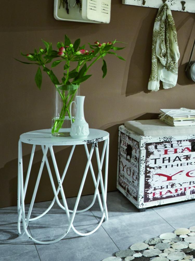 Odkládací stolek Armin, 45 cm, bílá