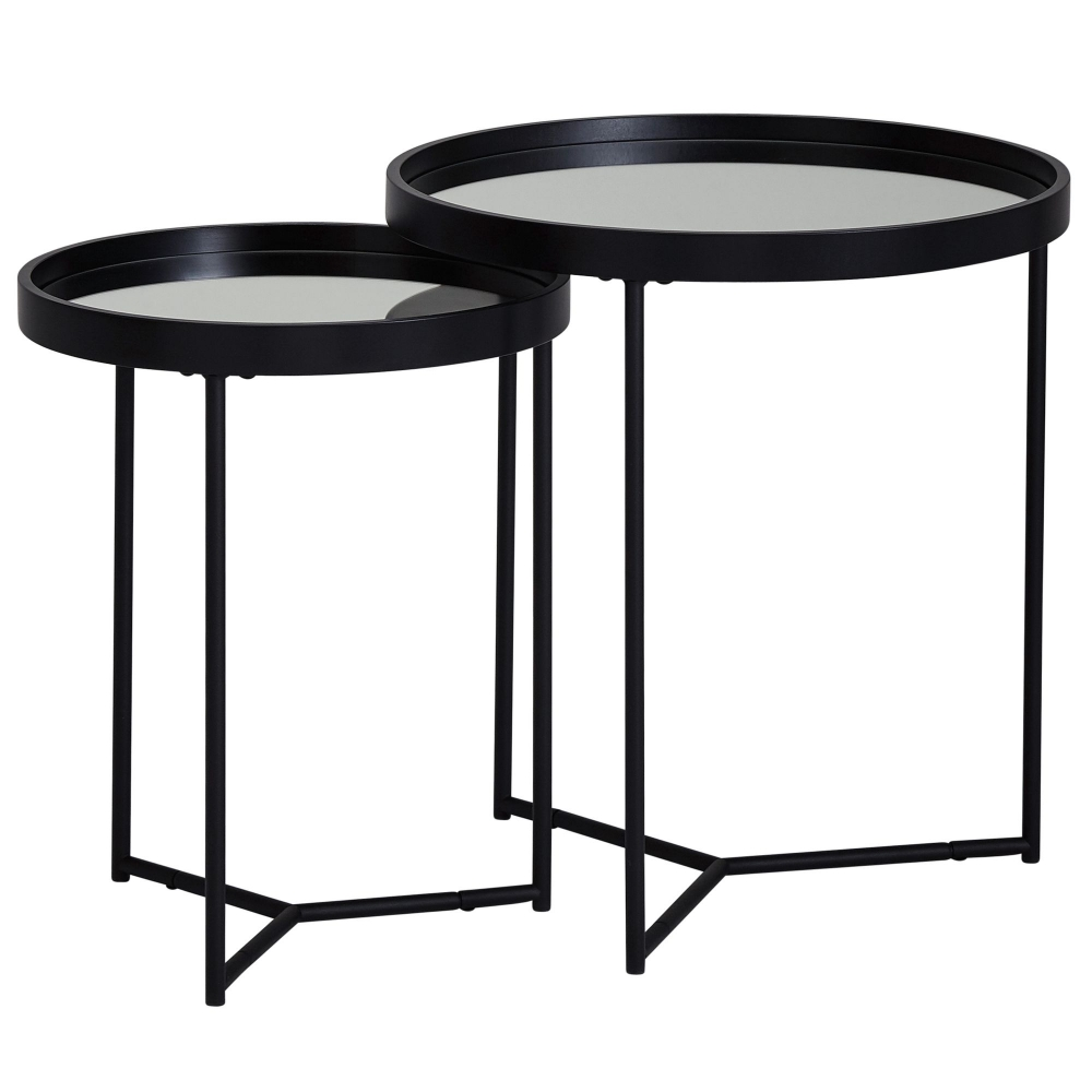 Odkládací stolek Arni (SADA 2 ks), černá