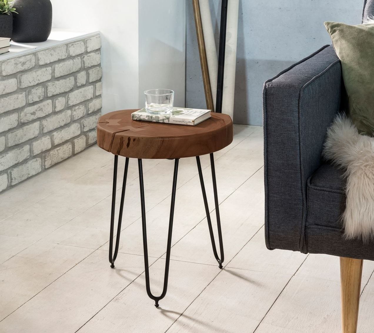 Odkládací stolek Bagli, 30 cm, masiv Sheesham