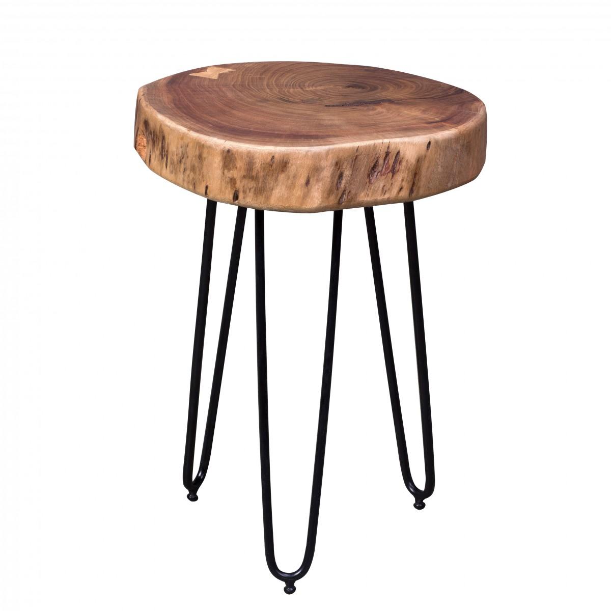 Odkládací stolek Bagli, 35 cm, masiv akát