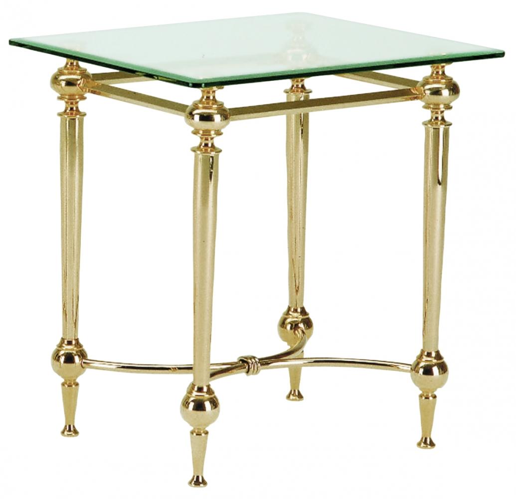 Odkládací stolek Birge I., 53 cm, zlatá / čirá