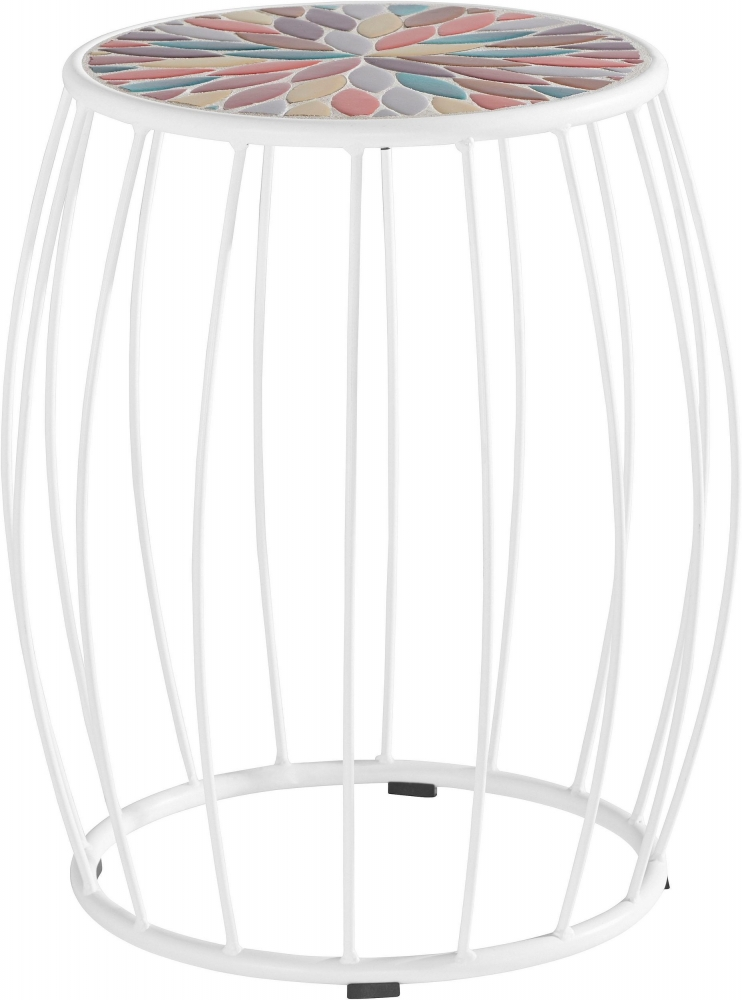 Odkládací stolek Cega, 45 cm, bílá