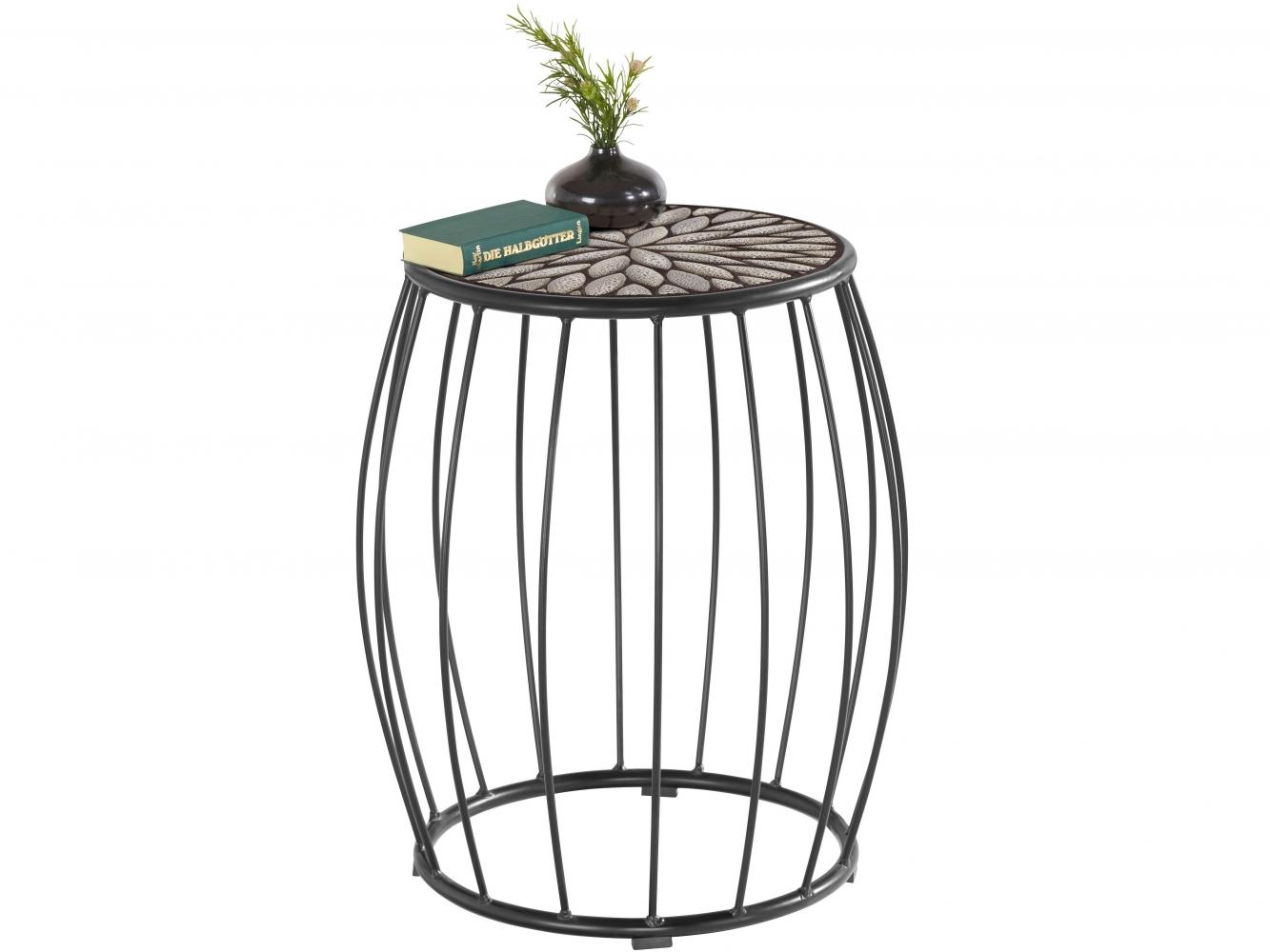 Odkládací stolek Cega, 45 cm, černá