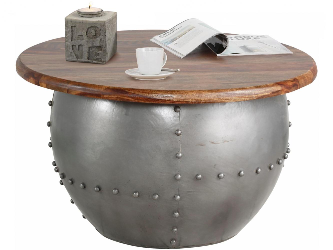 Odkládací stolek Chun, 75 cm, hnědá