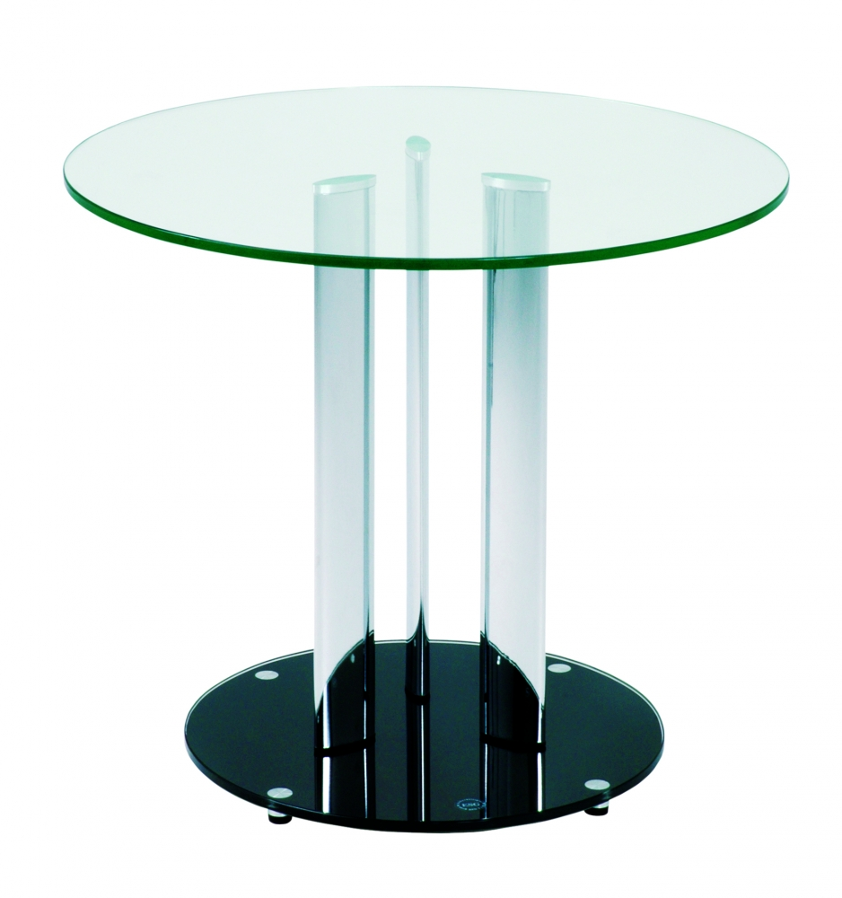 Odkládací stolek Cigy, 57 cm, čirá
