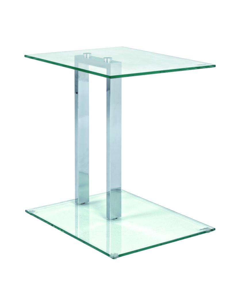 Odkládací stolek Dell, 50 cm, chrom