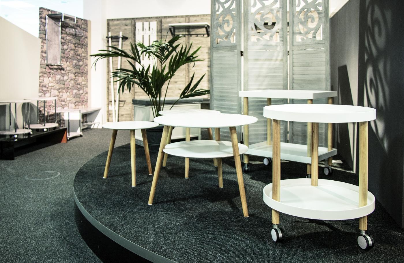 Odkládací stolek Dillon, 40 cm, bílá