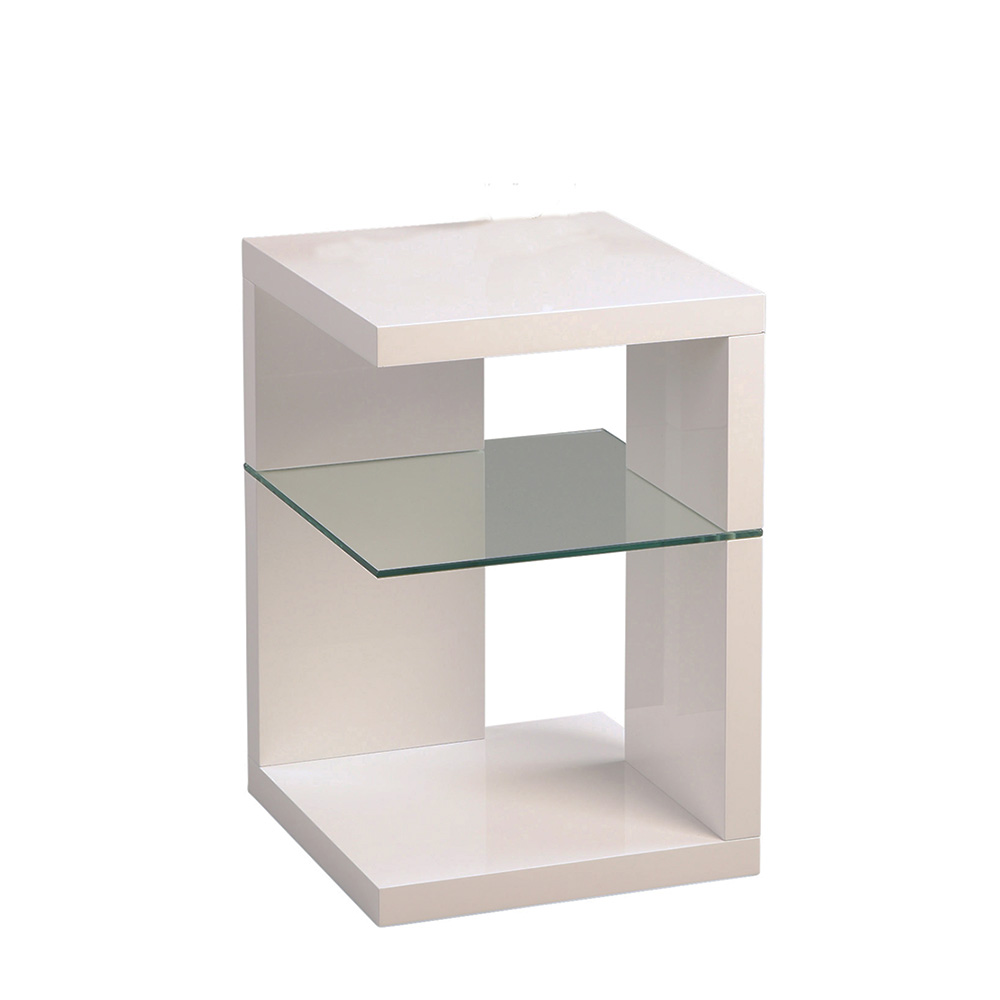 Odkládací stolek Domingo, 60 cm, bílá