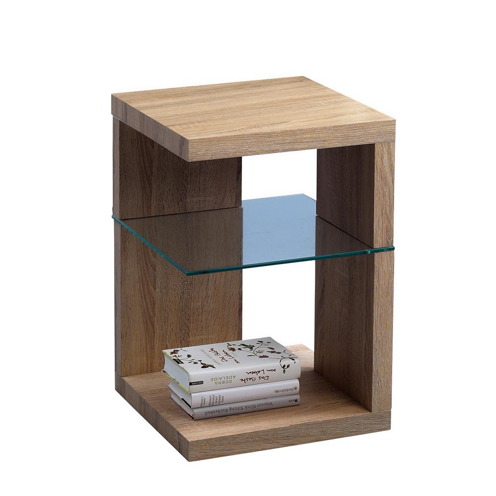 Odkládací stolek Domingo, 60 cm, Sonoma dub