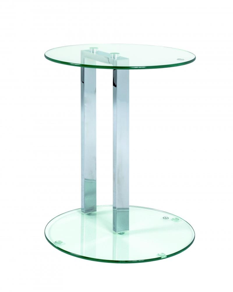 Odkládací stolek Dozz, 50 cm, chrom