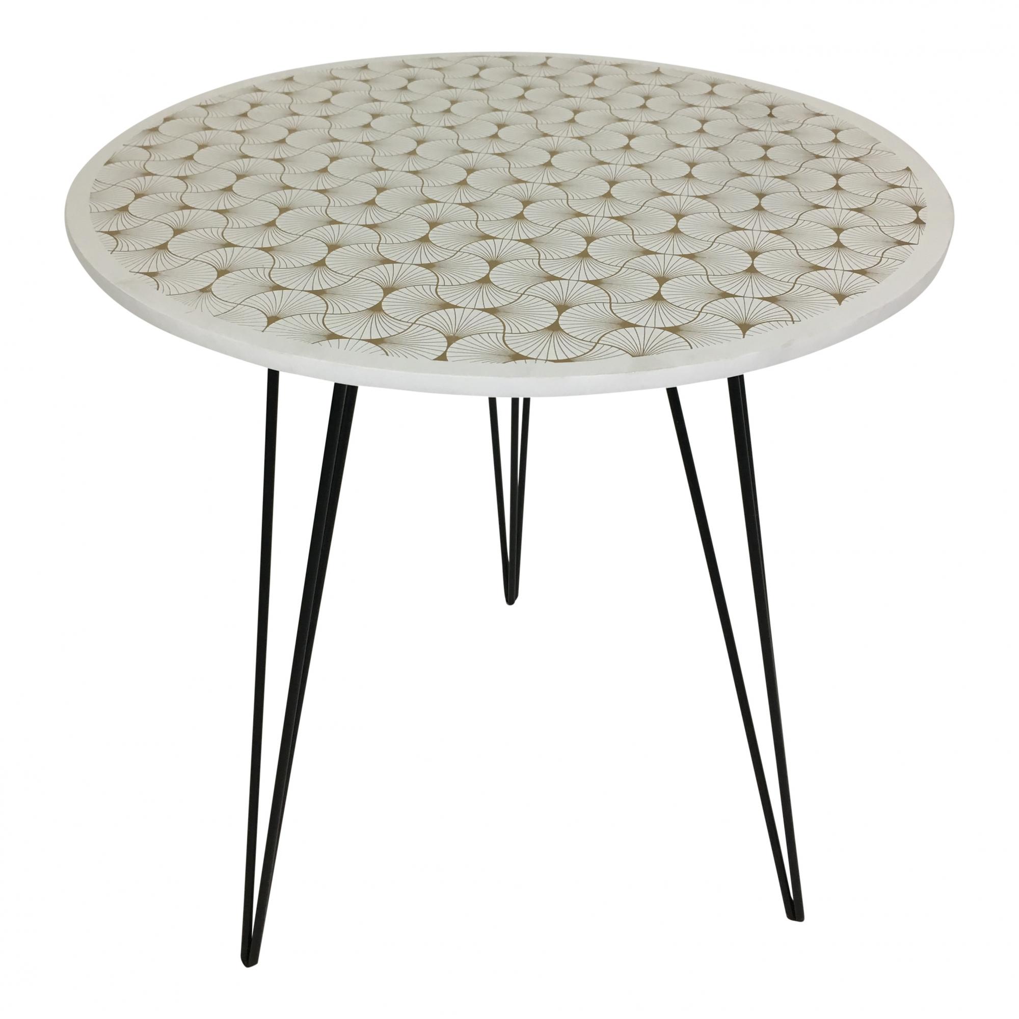 Odkládací stolek Dragon, 40 cm, lastury