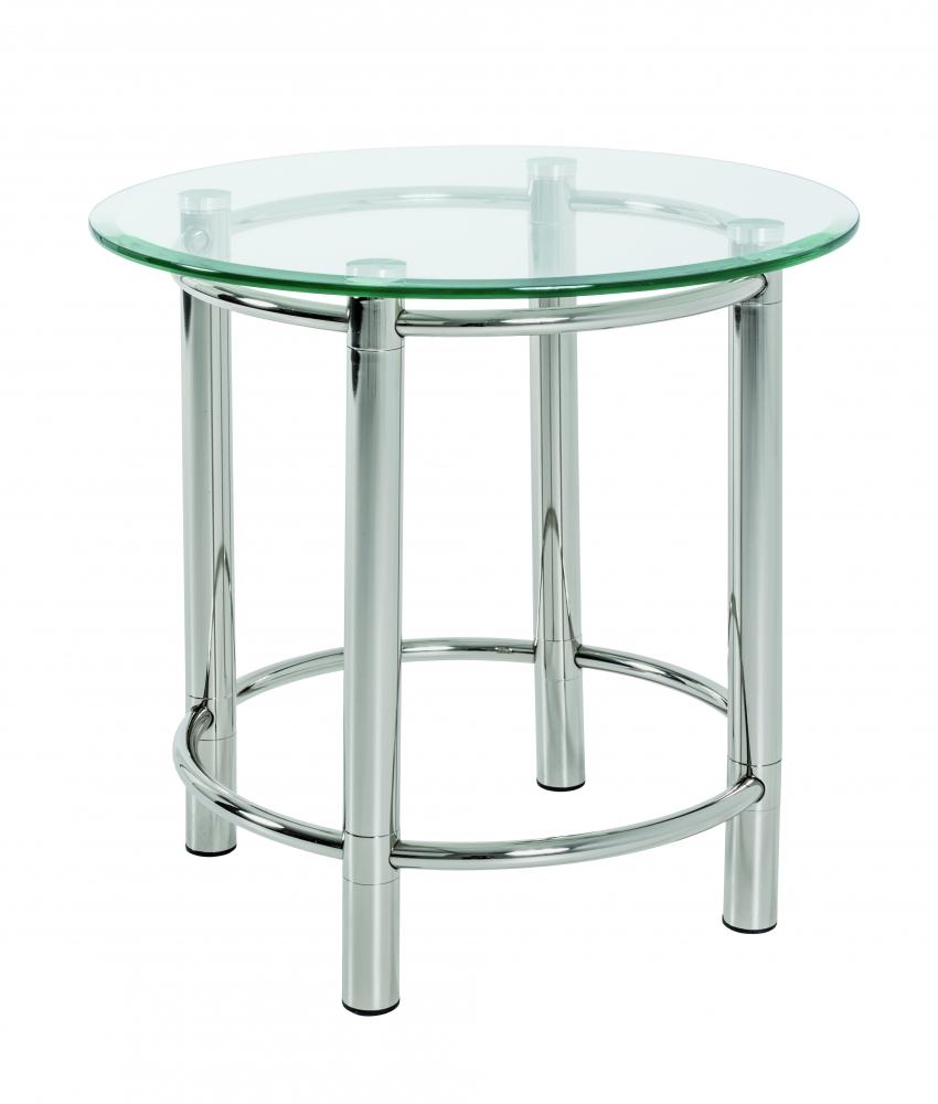 Odkládací stolek Embu, 55 cm, čiré sklo