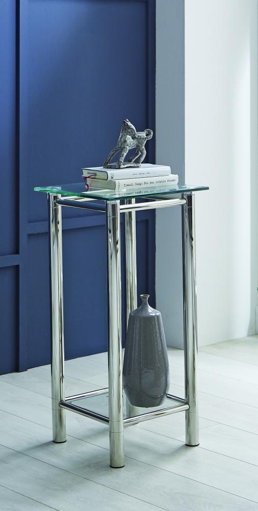 Odkládací stolek Embu, 72 cm, čiré sklo