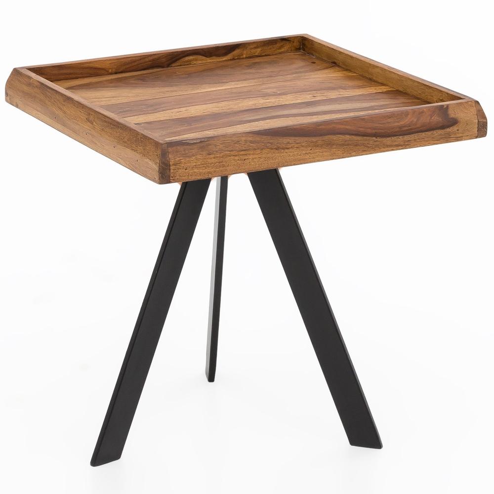 Odkládací stolek Emré, 48 cm, masiv Sheesham