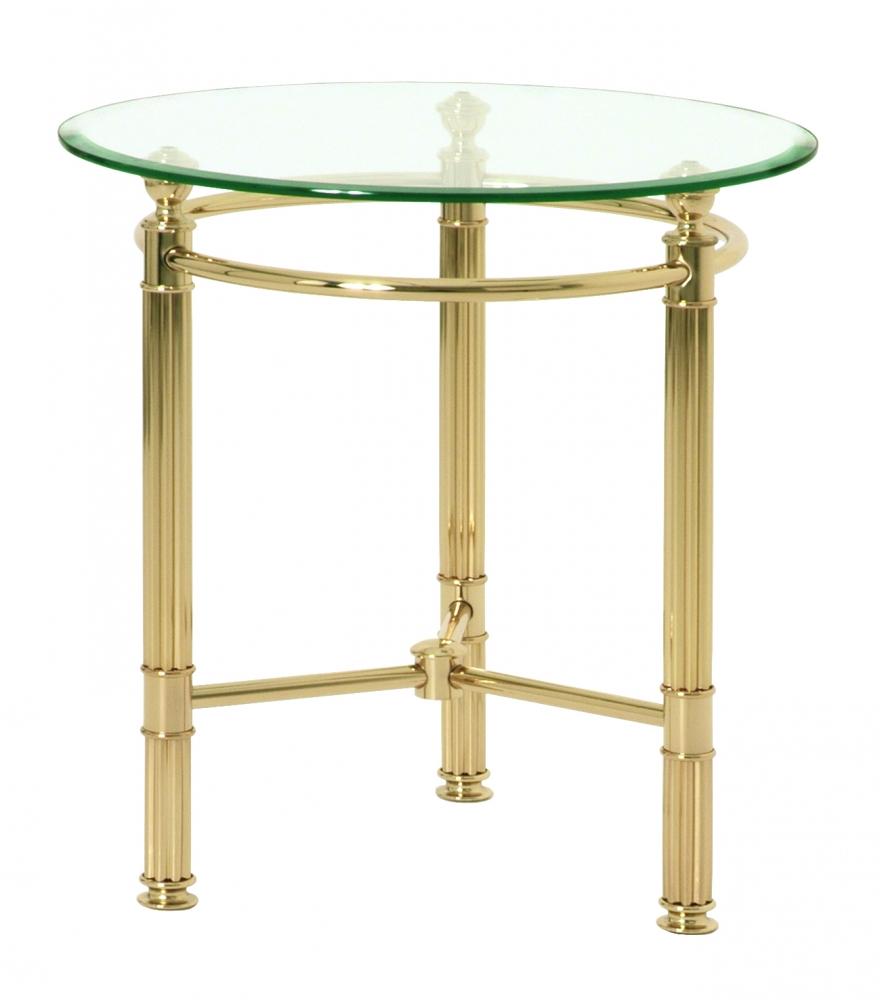 Odkládací stolek Enar I., 53 cm, zlatá / čirá