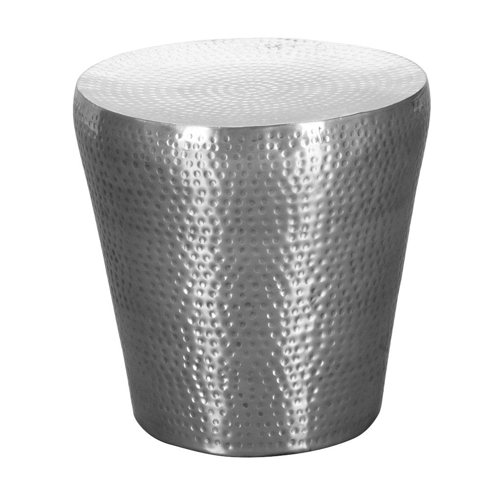 Odkládací stolek Enoa, 41 cm, stříbrná