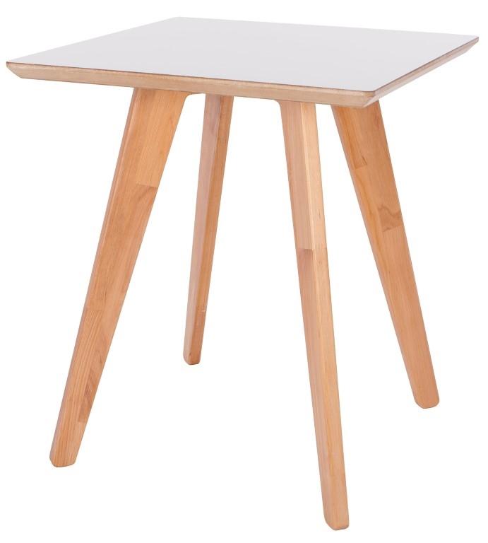 Odkládací stolek Faceta, 47 cm, bílá