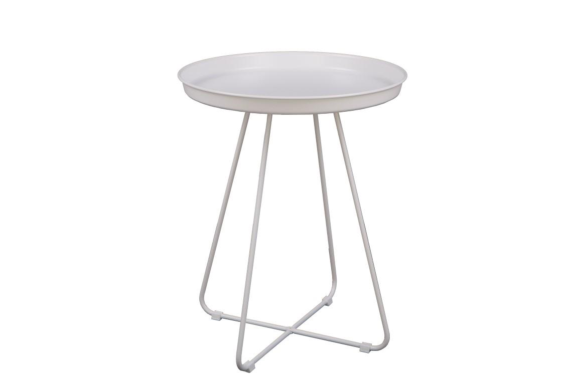 Odkládací stolek Foden, 42 cm, bílá